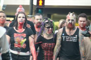 Heps! There's the green man, let the zombies cross the road.