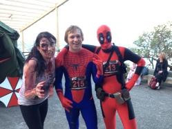Zombie, Spiderman, and ... MaskRider?