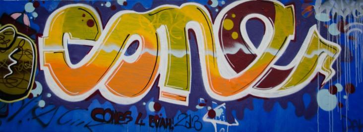Graffiti wall at Massey