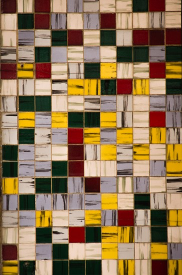 Mosaic tiles at Iko iko (shop on Cuba Street)