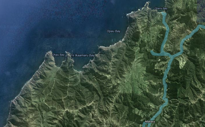 Map of Makara. We were somewhere there