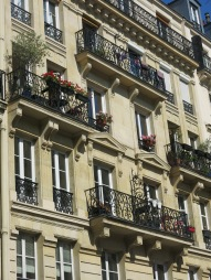 Windows with grilled balconies