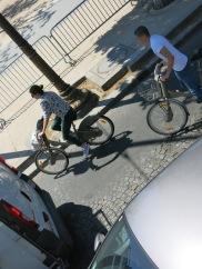 bikers (sans helmet and paddings)