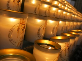 candles from cathedrals