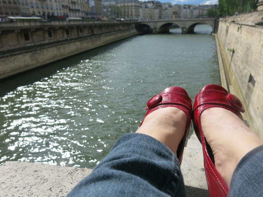 Resting My Sore Feet along the River Seine.