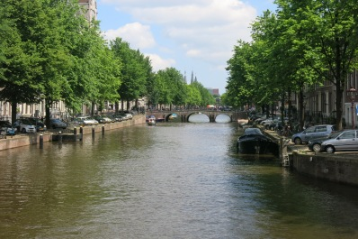 One of Amsterdam's many canals