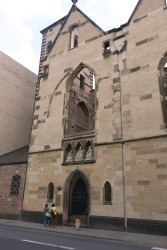 a church that was destroyed during WW2, left as it was and now serves as a war memorial