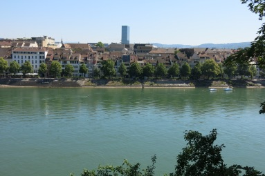 Looking across the Rhine at North Basel