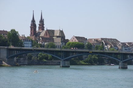 Basel - yes the bridge is at an angle, notice that the horizon (water) is straight?