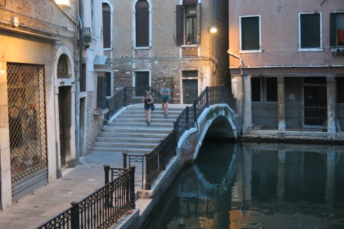 One of many bridges over the canals of Venice