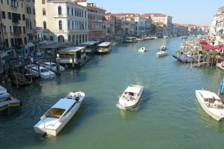 The Grand Canal on a busy Tuesday morning