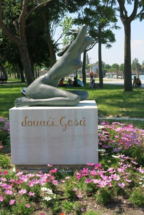 Sculpture that greets visitors into Burano Island