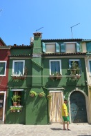 Burano is known for lace, and their colourful houses!
