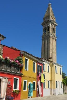 Burano's clock tower