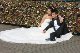 Wedding Photos at the Love Lock Bridge