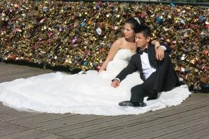 Wedding Photos at the Love Lock Bridge