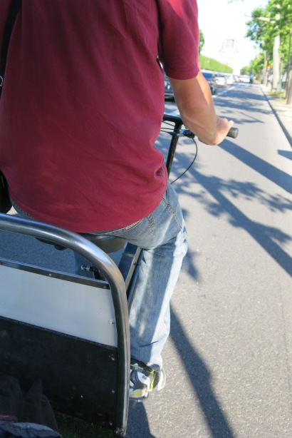 My view from the back of the bike