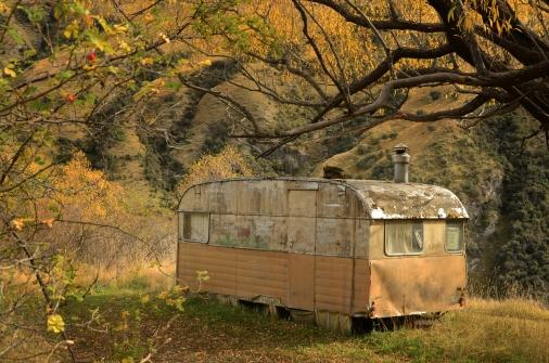 An old caravan