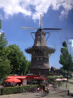 a working windmill (Amsterdam Central)