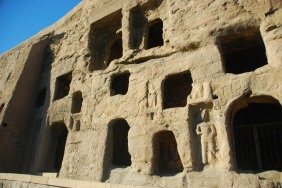 Left side of Yungang Grottoes