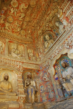 And yes, even on the ceilings - buddhas everywhere.