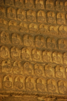 blurred because i had to use the digital zoom of my camera to photograph the tiny buddha carvings.