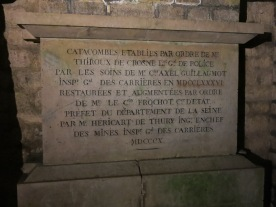 Plaques underneath the ground