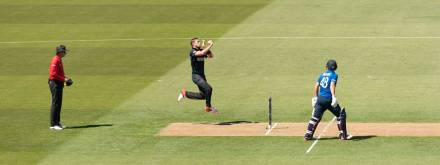 Tim Southee, just before he bowled the 1st of his 7 wickets during the match.
