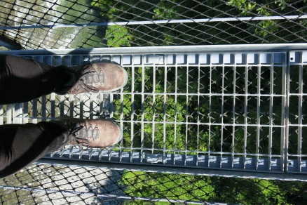 Looking down on where I could fall ...