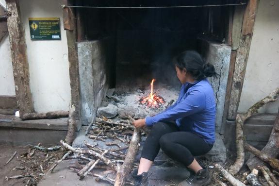 Me - lighting a fire!