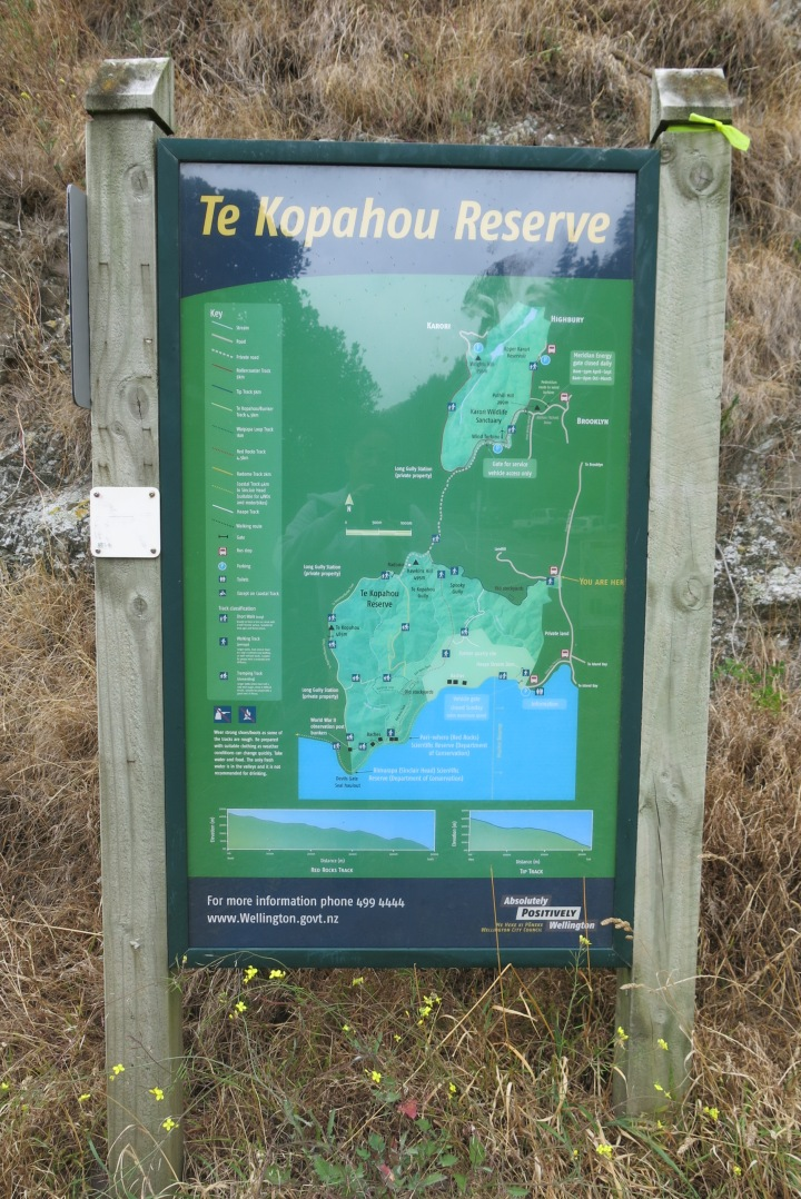Map at the start of the walk