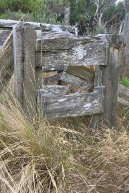 Part of the fence on the tip track