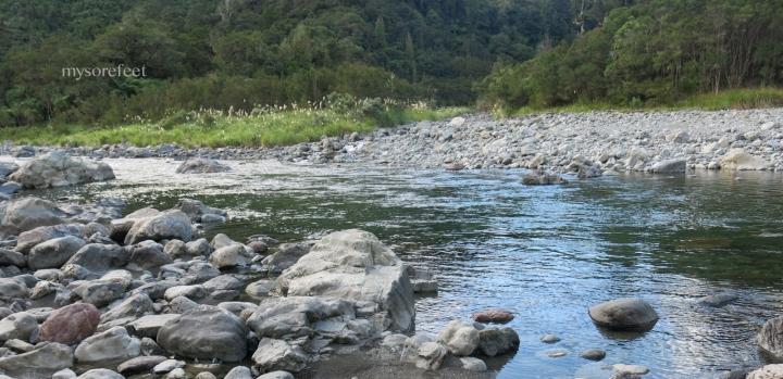 Waiohine River, at the base of Totara Flats Hut