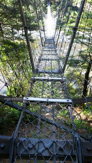 The freakiest Swing Bridge I have ever seen.