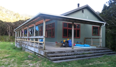 Totara Flat Hut - our home for the night
