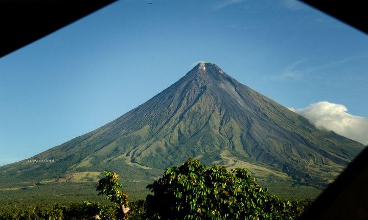 Mt Mayon, as seen from balcony of Balay Dela Rama