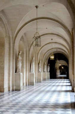 One of several hallways at Versailles