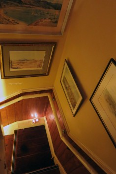 The stairwell to the 1st level.