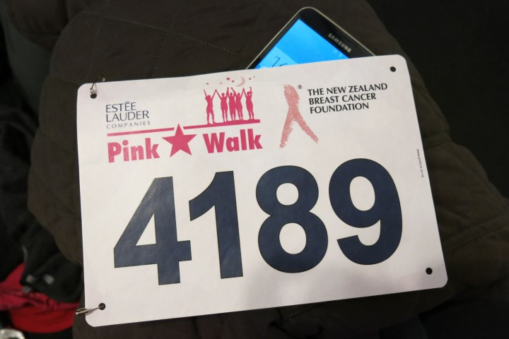 My pink bib!